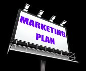 Marketing Plan Sign Refers To Financial And Sales Objectives