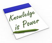 Knowledge Is Power Notebook Means Successful Intellect And Menta