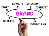 Brand Diagram Shows Company Identity And Loyalty