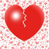 Broken Heart Means Couple Trouble Or Relationship Crisis