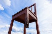 image of landmines  - Geneva broken chair in front of the united nation building  - JPG