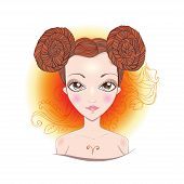 Постер, плакат: Vector illustration of Aries zodiac sign