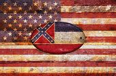 Wooden Flag Of Mississippi.