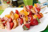 Tasty fruit skewers