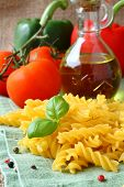 Ncooked Gluten Free Fusilli Pasta From Blend Of Corn And Rice Flour