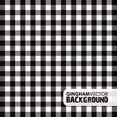black gingham background