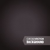 stock photo of cross-hatch  - an abstract square cross black background image - JPG