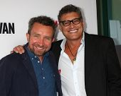 LOS ANGELES - APR 28:  Eddie Marsan, Steven Bauer at the
