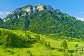 The Three Crowns Massif In The Pieniny Mountains Range.