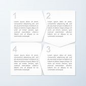 Paper Progress Banners. Design Template. Vector Illustration