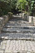 pic of cornerstone  - garden Rosh Pina one of the oldest moshavot in Israel - JPG