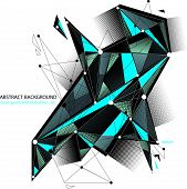 Abstract 3d mesh background, abstract conceptual illustration, engineering and new technology