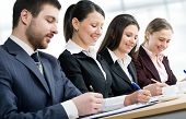 pic of business class  - Businesspeople at a seminar in an office - JPG