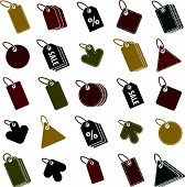 Tag icons isolated on white background set, retail theme simplistic symbols collections.