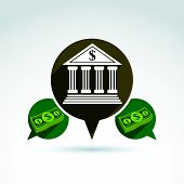 Banking credit and deposit money theme icon, conceptual stylish symbol for your design.