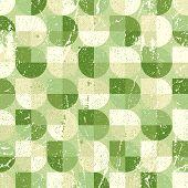 Geometric spherical seamless pattern, vintage
