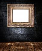 Frame On The Dark Wall