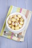 Organic Baby Potatoes Chopped Radish