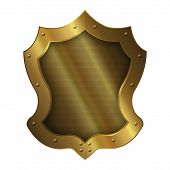 Medieval Gold Shield.