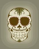 stock photo of day dead skull  - Vector illustration of decorative Mexican sugar skull - JPG