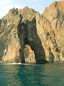 Golden gates (rock) in sea, Crimea