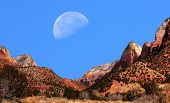 Moon Zion National Park