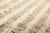 Retro sheet music, abstract art background