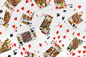 Playing cards, abstract gambling background