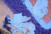 Rough Textured Blue Wall
