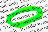 Word Business - concept business background