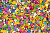 Colorful confetti texture, abstract holiday background