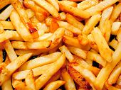 Fried potato, abstract food background