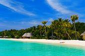 Beach at a tropical island - travel background