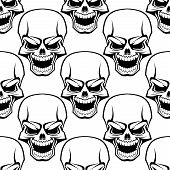 Skull seamless background pattern