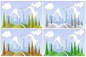 Landscape in four seasons