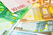 Euro money banknotes - abstract business background