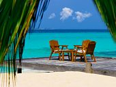 pic of kuramathi  - Cafe on the beach - JPG