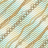 Nautical diagonal pattern on waves background.