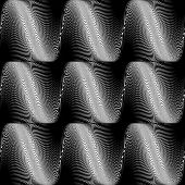 Design Seamless Monochrome Wave Movement Background