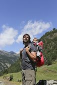 Hiker And Baby