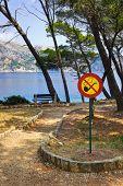 Sign No smoking in park at Croatia