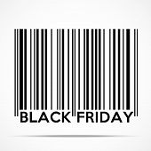 picture of friday  - Black Friday sales tag in barcode style - JPG