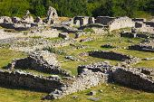 Old ruins in Split, Croatia - archaeology background