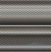 Chrome metal mesh.
