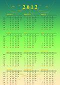 green calendar year 2012