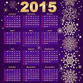2015 New Year Violet-gold Calendar