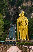 Statue of hindu god Muragan at Batu caves, Kuala-Lumpur, Malaysia