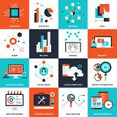 pic of antivirus  - Abstract flat vector illustration of technology concepts - JPG
