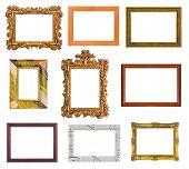 Set of frames isolated on white background