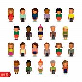 Set of stylized baby figures.